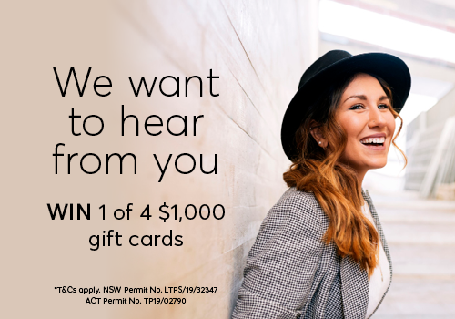 Tell us about your visit & WIN!